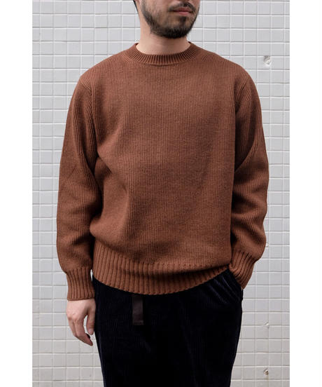 comm.arch. / Hand Framed Crew Neck P/O / col.ALMOND
