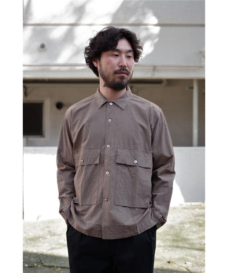 ENDS and MEANS / Corfu Shirts L/S / col.BROWN