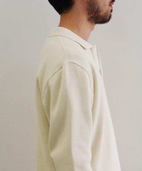 bunt / COTTON SKIPPER NECK SWEATER / col.ホワイト