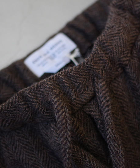 ENDS and MEANS / Wool Relax Fit Trousers / col.BROWN