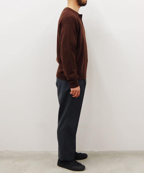 bunt / SKIPPER KNIT SHIRTS / col.ブラウン