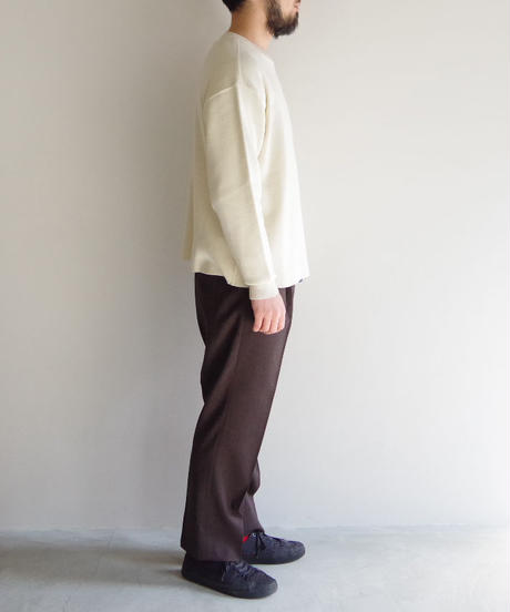 bunt / COTTON CREW NECK SWEATER / col.ホワイト