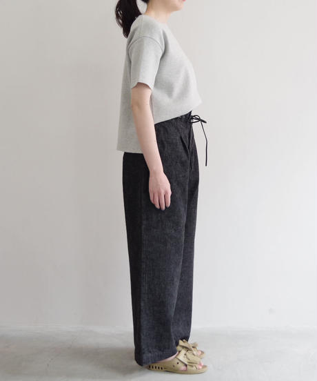 brassband / HI BACK DENIM PANTS / col.BLACK O.W / Lady's
