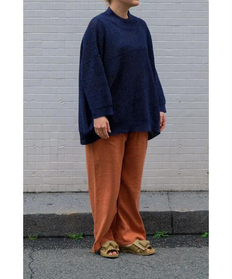YOKO SAKAMOTO / PAPER KNIT T-SHIRT / col.NAVY / Lady's