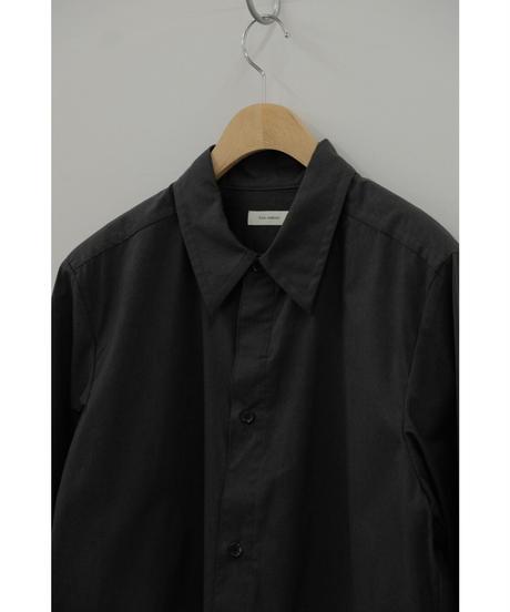 THE HINOKI / Cotton Parachute Cloth regular collar shirt / col.BLACK