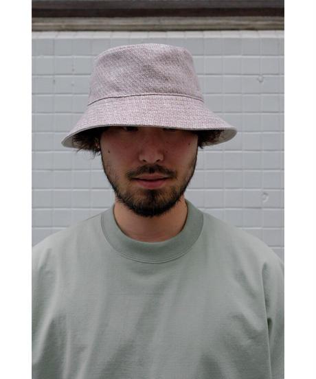 ULTERIOR / LINEN HAKEME TWEED RV HAT / col.AZUKI×ECRU