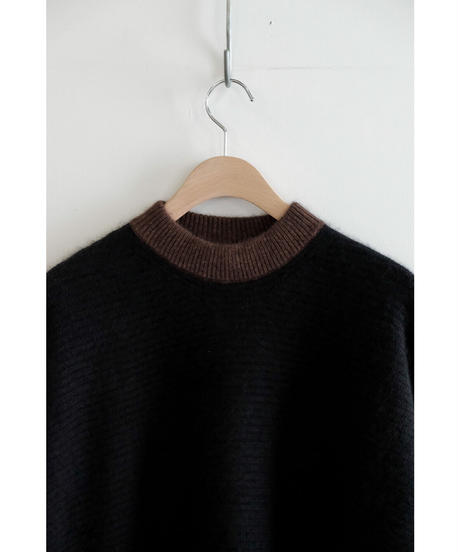 yoko sakamoto / RACCOON WOOL BIG KNIT / col.BLACK
