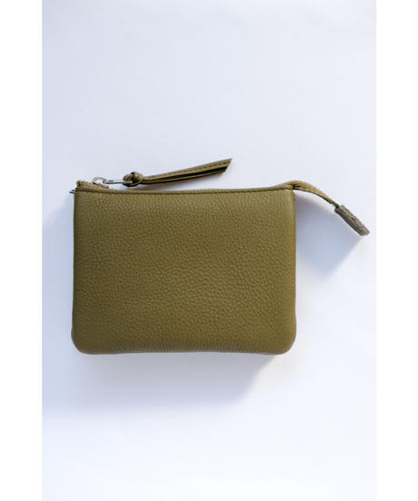 ERA. / BUBBLE CALF UTILITY WALLET MEDIUM / col.OLIVE