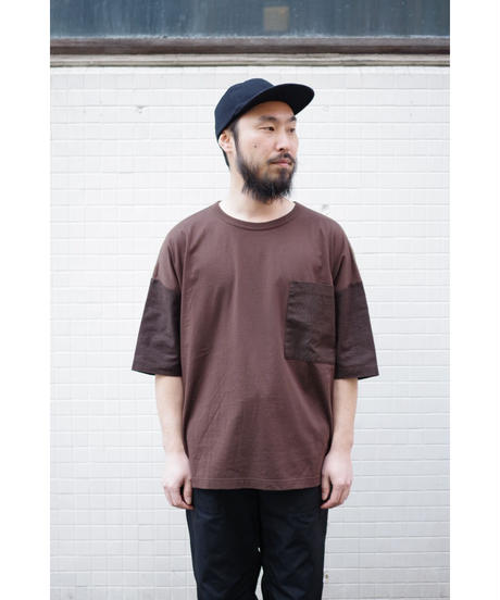 YOKO SAKAMOTO  / MIX POCKET T-SHIRT / col.BROWN
