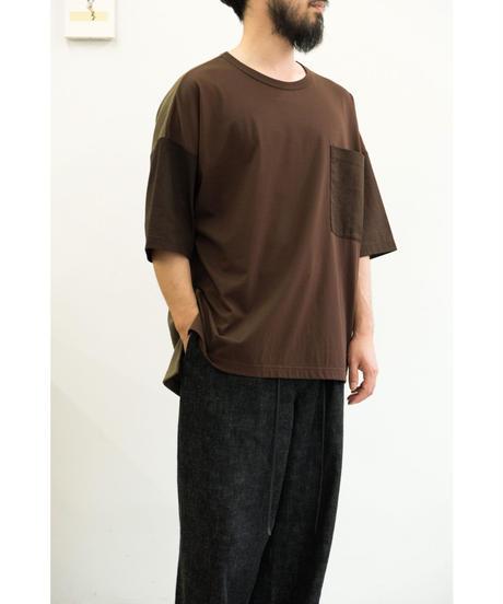 YOKO SAKAMOTO  / MIX POCKET T-SHIRT / col.BROWN / size.M