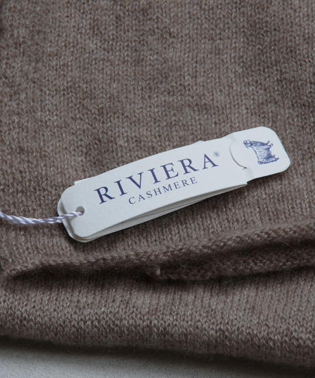 RIVIERA / cachmere stole / col.ブラウン