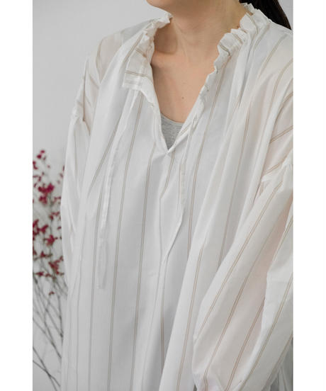 &her / Over Shirts Dress  / col.WHITE