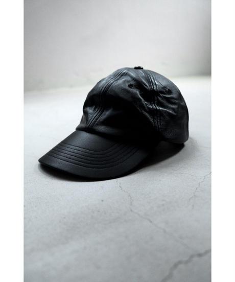 YOKO SAKAMOTO / LEATHER CAP / col.BLACK