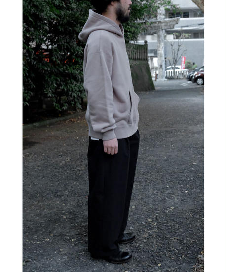 ULTERIOR / SUVIN COTTON BULKY TERRY HOODIE / col.ROSE GREY