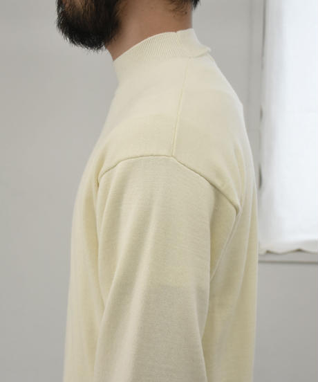 bunt /  12G MOCK NECK SWEATER / col.ホワイト / size 2