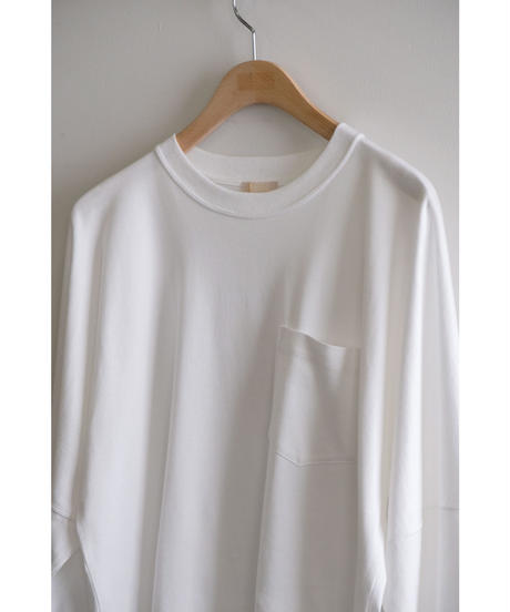 ULTERIOR / SUVIN COTTON L/S POCKET TEE / col.WHITE