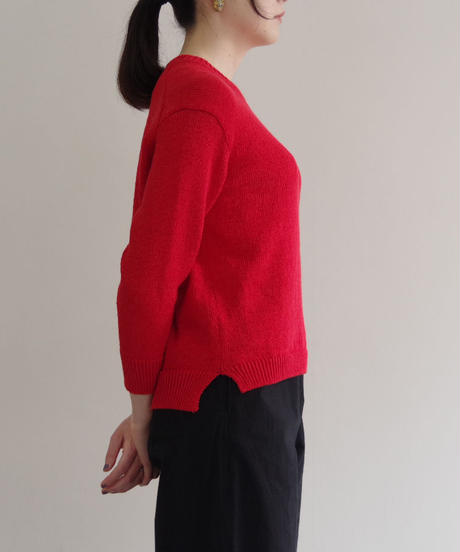 comm.arch. / HAND FRAMED CO LINEN P/O / col.bloodorange(Lady's)