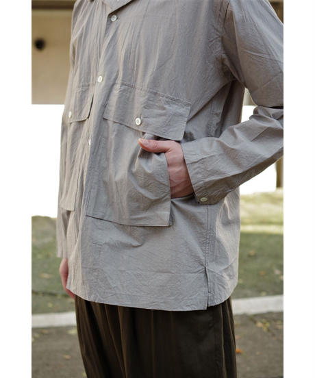 ENDS and MEANS / Corfu Shirts L/S / col.Light Gray