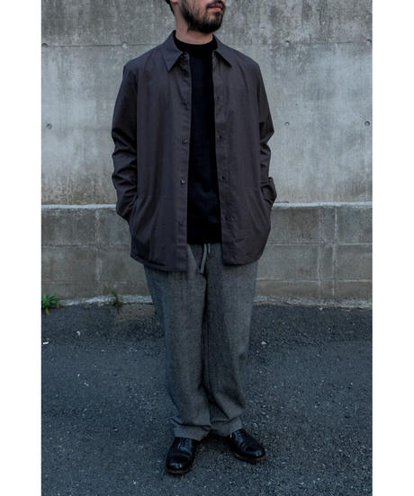 comm.arch. / Silk Cashmere Mock Neck P/O / col.BLACK OUT