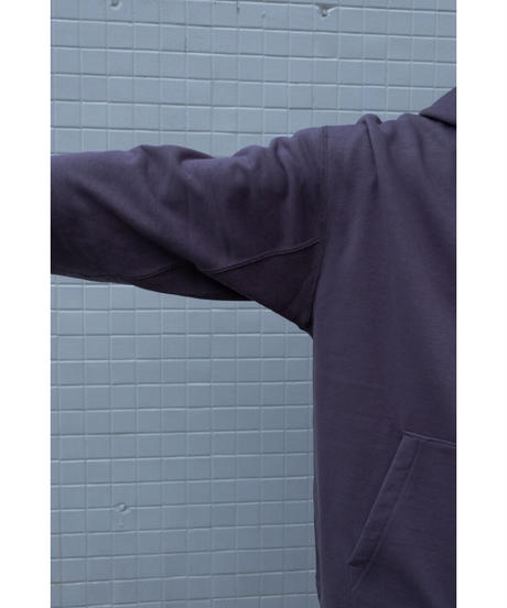 ULTERIOR / DRY FEEL SILKY TERRY ZIP UP PARKA / col.PERPLE BROWN