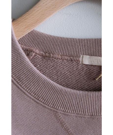 ULTERIOR / SUVIN COTTON BULKY TERRY SWEAT SHIRT / col.ROSE GRAY