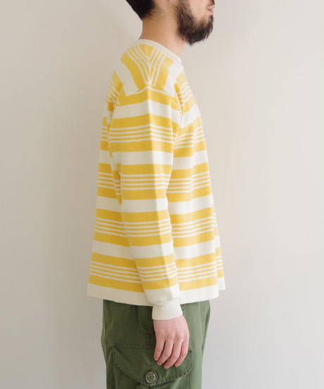 bunt / COTTON CREW NECK SWEATER / col.イエロー