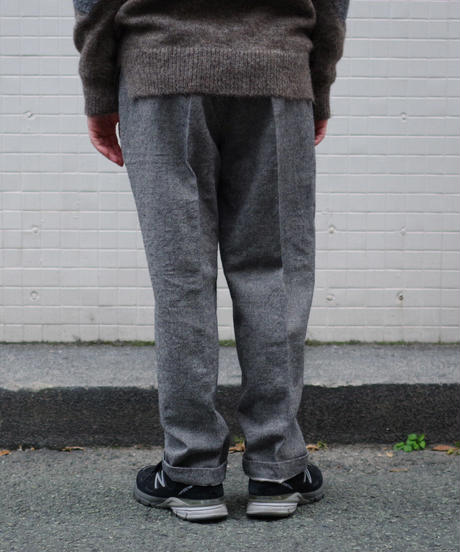 ENDS and MEANS / W/L Relax Fit Trousers / col.BLACK