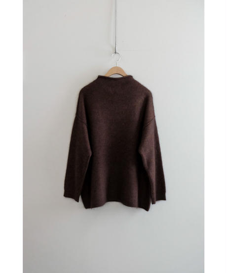 yoko sakamoto / RACCOON WOOL MOCK NECK KNIT / col.BROWN / Lady's