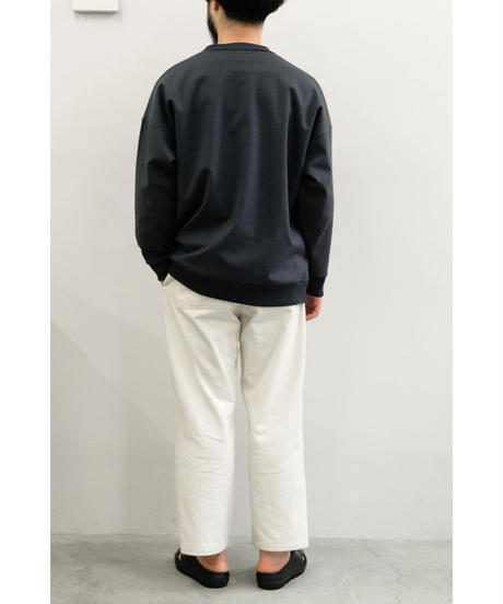 Blanc YM / Coating Sweat Shirt / col.BLACK