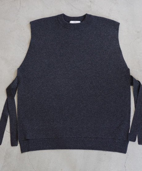 bunt / WOOL TAPE KNIT VEST / col.チャコール  / Men's