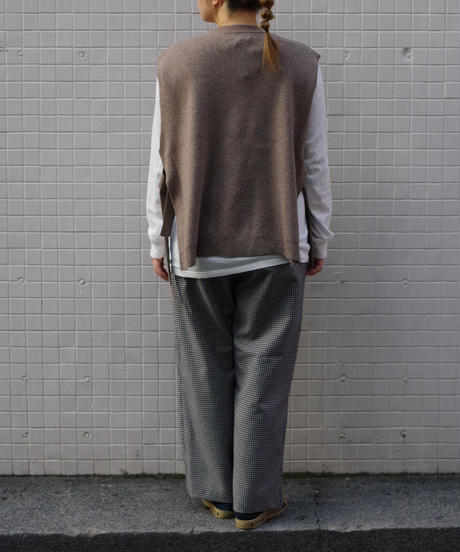 bunt / WOOL TAPE KNIT VEST / col.ベージュ / Lady's