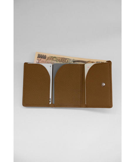 ERA. / BUBBLE CALF TRYPTYCH WALLET / col.TAUPE