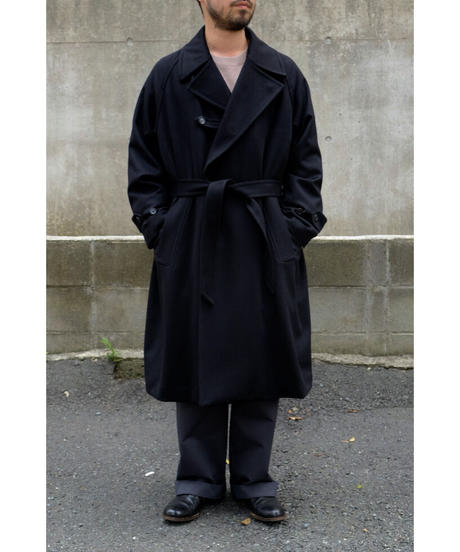 ULTERIOR / PURE CASHMERE BEAVER OVER COAT / col.BLACK / size.4