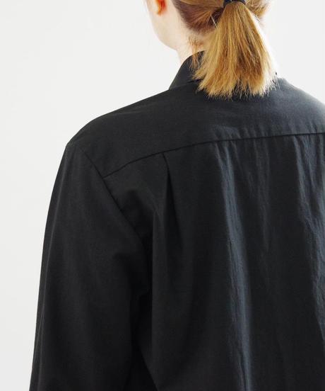 THEHINOKI / パラシュートクロス 丸衿シャツ / col.ブラック / size 1 / Lady's