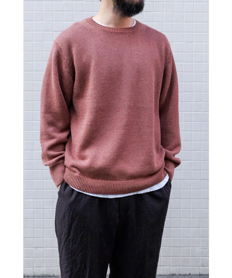comm.arch. / HAND FRAMED CO LINEN P/O / col.RED BEAN