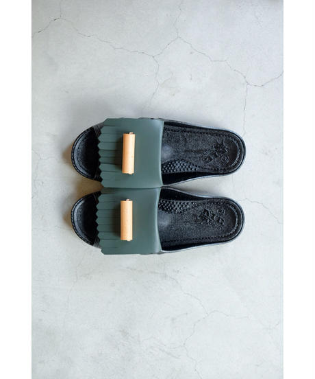 bench / BENSAN-D WOOD PIPE BY KENJI ITO /col. BLACK×GREEN(UNISEX)