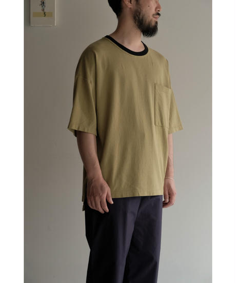 YOKO SAKAMOTO  / POCKET T-SHIRT / col.DARK YELLOW