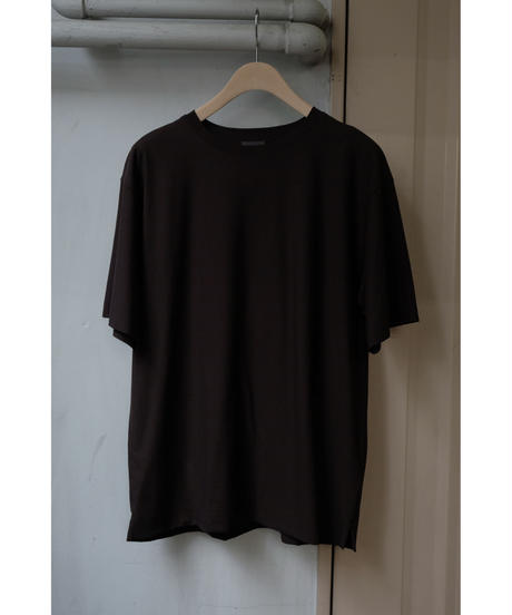 comm.arch. / DOUBLE LAYERED S/S TEE / col.BURNT BROWN