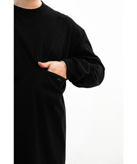 Sheba / ロングスリーブ カットソー / col.BLACK / size.2