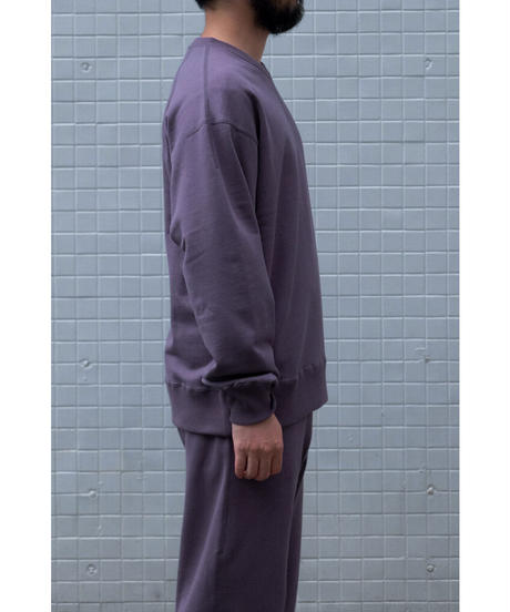 ULTERIOR / DRY FEEL SILKY TERRY SWEAT SHIRT / col.PERPLE BROWN