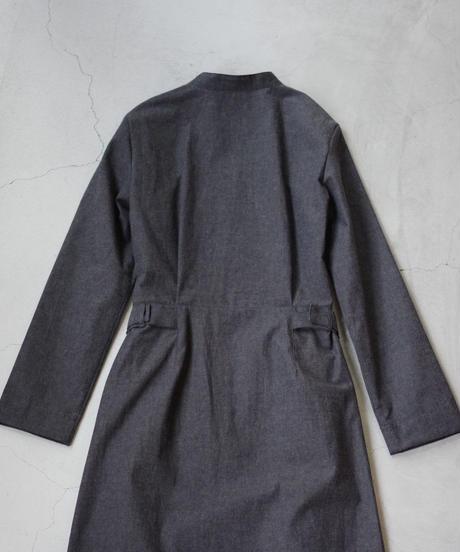 THE HINOKI / 先染めバフクロス カラーレスドレス  / col.チャコールブラウン