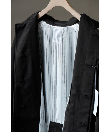 S.F.C Stripes For Creative / SFC SOUTIEN COLLAR COAT / col.BLACK