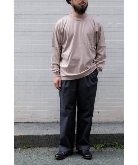 20AW ULTERIOR / SUVIN COTTON L/S POCKET TEE / col.ROSE GRAY