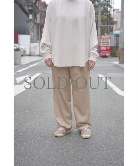 Blanc YM / S/W Royal Oxford Easy Pants / col.BEIGE / Lady's