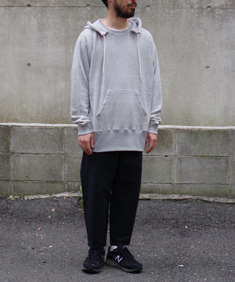 bunt / LOOP WHEEL CREW SWEAT PARKA  / col.グレー / Men's