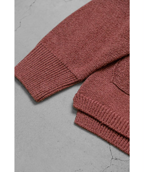 comm.arch. / HAND FRAMED CO LINEN C/D / col.RED BEANS