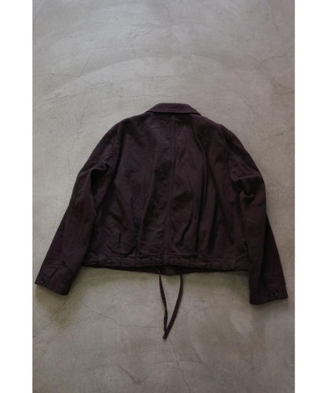 YOKO SAKAMOTO / CROPPED COACHES JACKET / col.OVERDYE BROWN