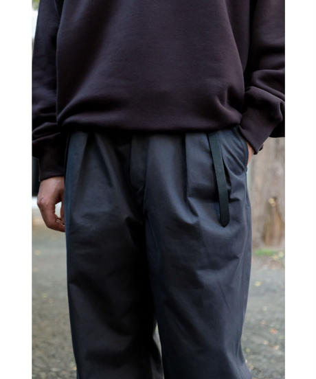 ULTERIOR / BIZEN No'1 TWILL TUCKED MILITARY PANTS / col.SLATE GRAY / size.4