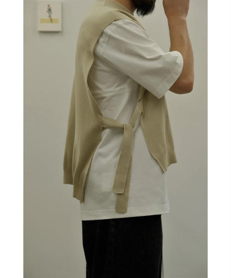bunt / FINE COTTON TAPE KNIT VEST / col.BEIGE / Men's