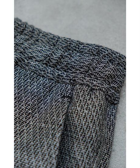 ULTERIOR / LINEN HAKEME TWEED DRAWSTRING PANTS / col.BLACK